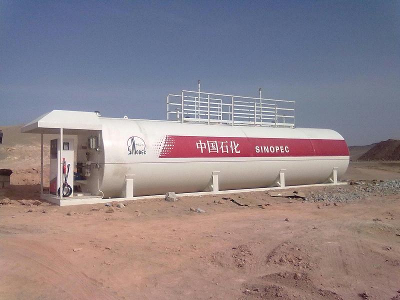 中石化50立方米双舱橇装式加油装置