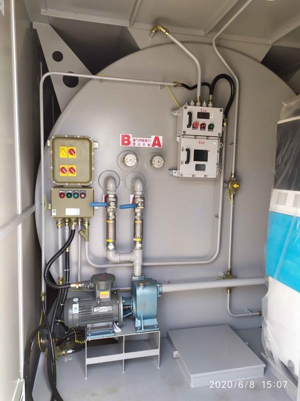 橇装式加油装置双舱设备一级油汽回收接口