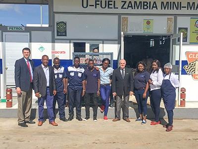 优孚尔董事长Michael Webb视察赞比亚分公司