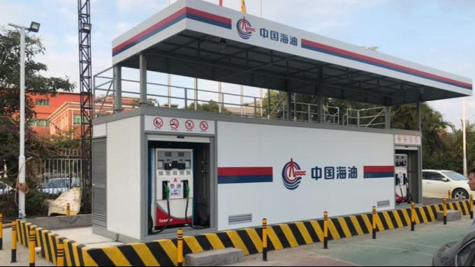 采用围堰式地基的撬装加油站实例展示