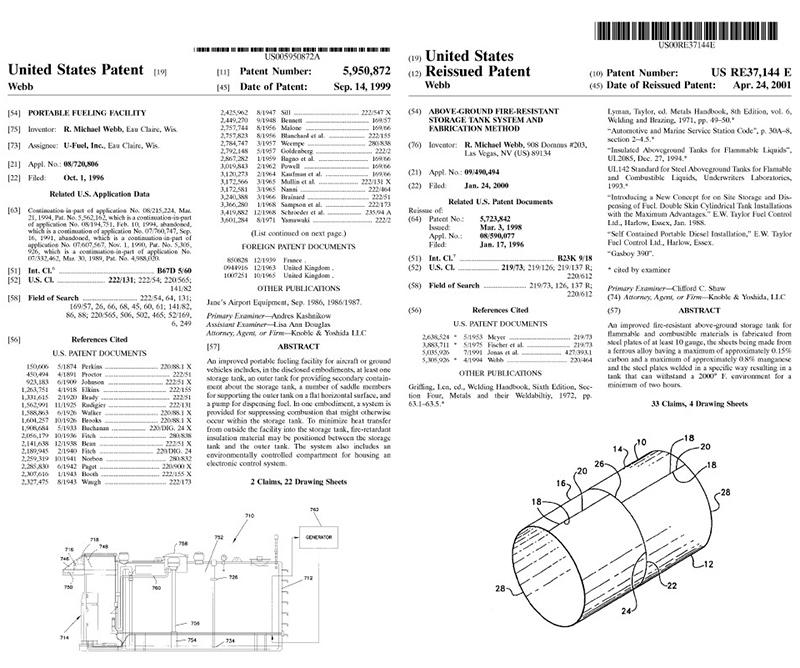 美国专利证书