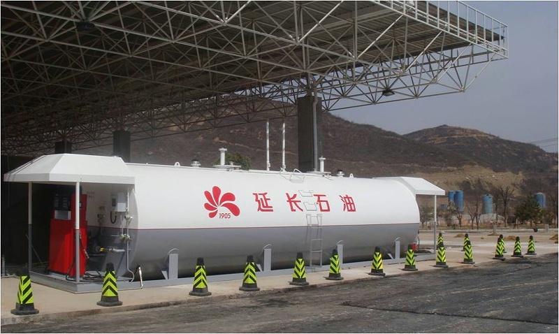 陕西高速延长50立双舱 Shanxi Yanchang Highway 50,000L Two Compartment Station